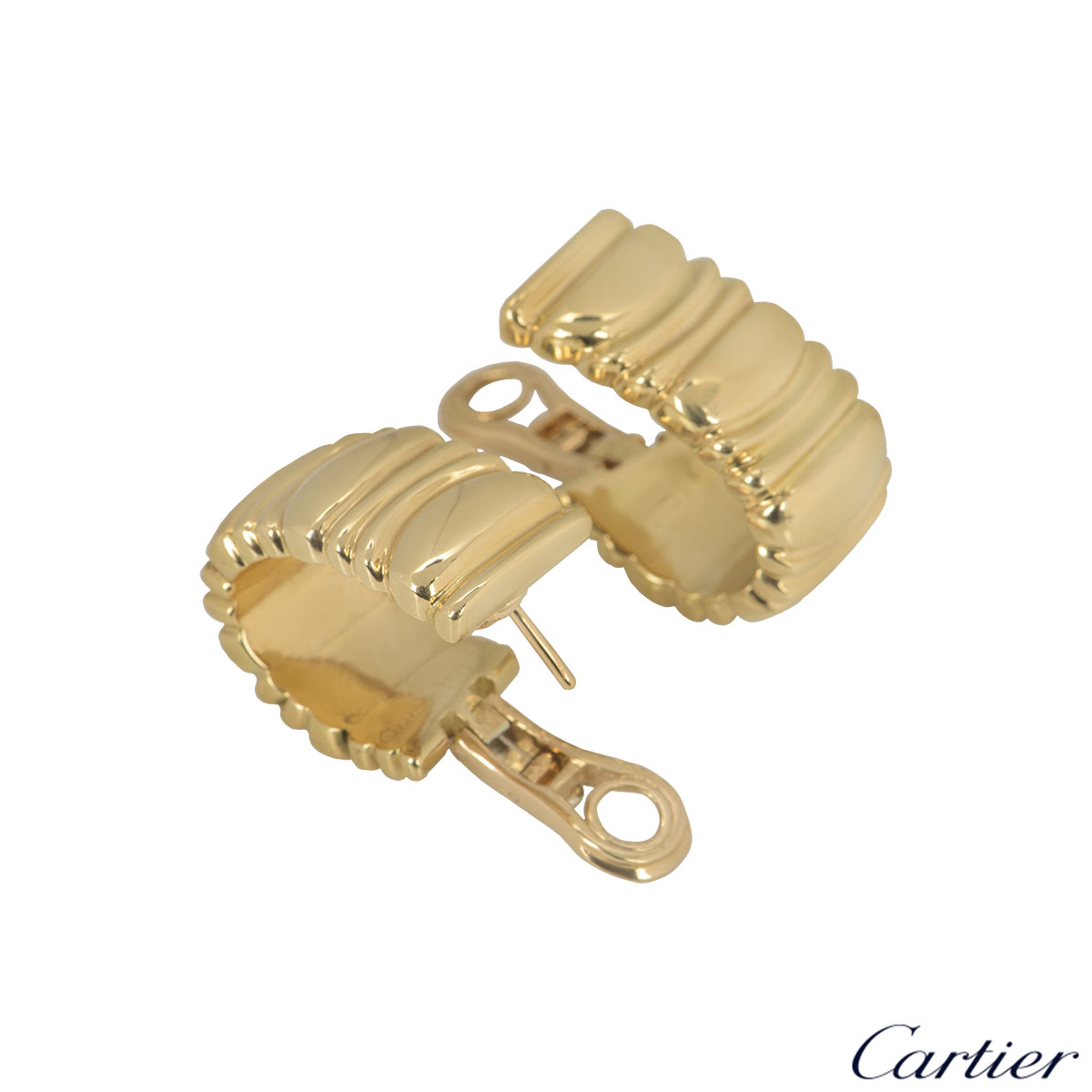 Cartier Yellow Gold Baignoire Earrings